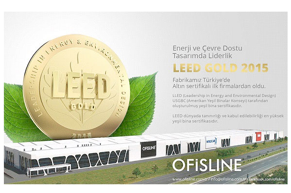 Ofisline has awarded Leed Certification